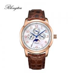 浪陀(Rlongtou)手表 雅仕经典系列腕表 时尚腕表 男女款 咖色