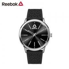 美国Reebok手表 切尔西之光系列 不锈钢橡胶表冠 黑色