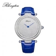 浪陀(Rlongtou)手表璀璨系列 满天星 钻石腕表 男款-白金色