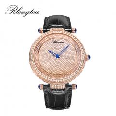 浪陀(Rlongtou)手表璀璨系列 满天星 钻石腕表 男款-玫金色