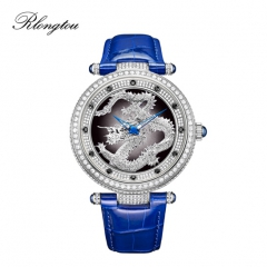 浪陀(Rlongtou)手表时来运转系列 中国龙 钻石腕表 白金色-男款 男款-白金色
