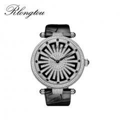 浪陀(Rlongtou)手表 时来运转系列 睿智 钻石石英腕表 白金色