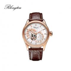 浪陀(Rlongtou)手表 尊尚系列 全自动机械机芯 鳄鱼皮表带 商务腕表 男女款