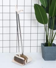 可旋转扫帚扫地清洁工具 软毛不沾头发笤帚组合 白色