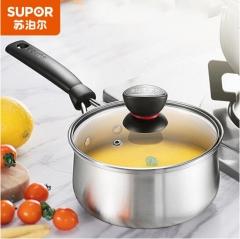 苏泊尔(SUPOR)ST16H1时尚304不锈钢奶锅小汤锅电磁炉通用