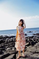 重工刺绣立体花朵吊带连衣裙仙女中长裙显瘦性感海边度假裙XW129 尺寸
