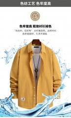 春季新款纯棉工装外套衬衫男韩版时尚长袖男休闲寸衫潮流工装外套 尺码